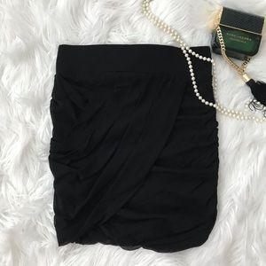 ✨3/$10✨ [express] mesh draped mini skirt